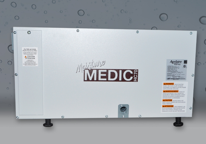 Moisture Medic Dehumidifier Side View